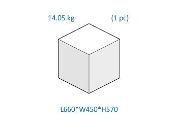 Box dimensions and weight