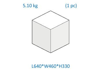 Rodi XP Box dimensions and weight