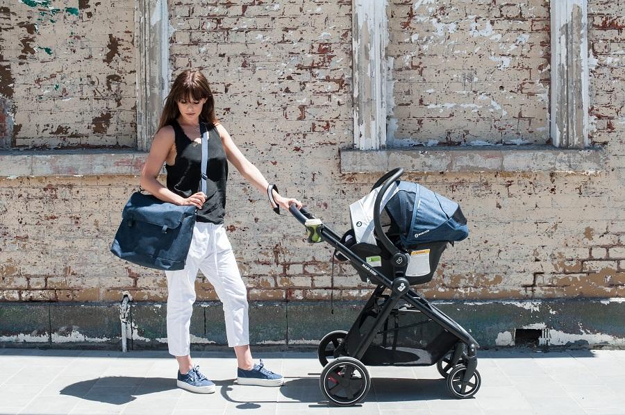 Maxi-Cosi Zelia Stroller, Mico Plus and Modern Bag