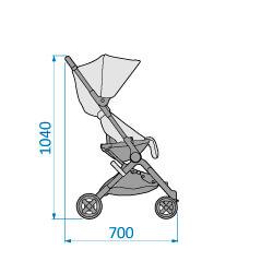 Lara stroller height 1040 x 700 depth