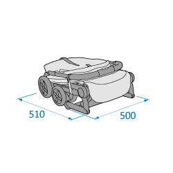 Lara folded depth 510 x width