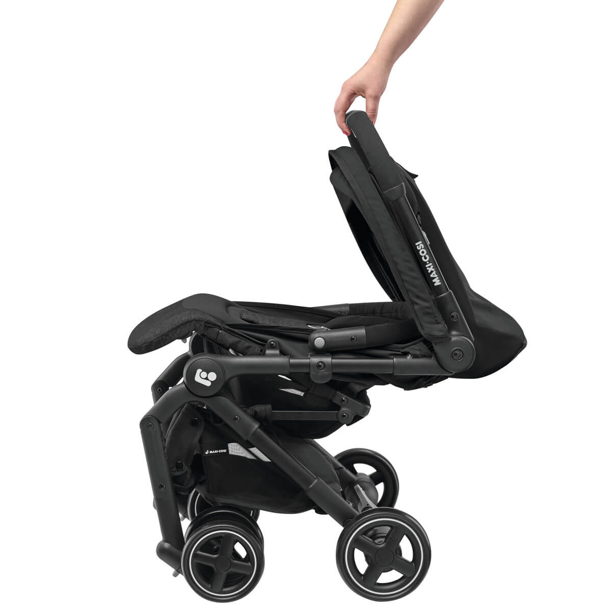The Maxi-Cosi Lara strollers can be folded with 1 button push.