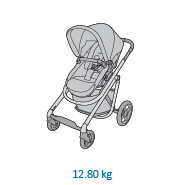Maxi-Cosi Lila baby pram Product Weight: 12.8kg