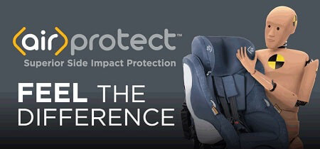 AirProtect side impact protection technology for Maxi-Cosi car seats
